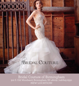 Bridal Couture of Birmingham ad in Detroit Wedding Day