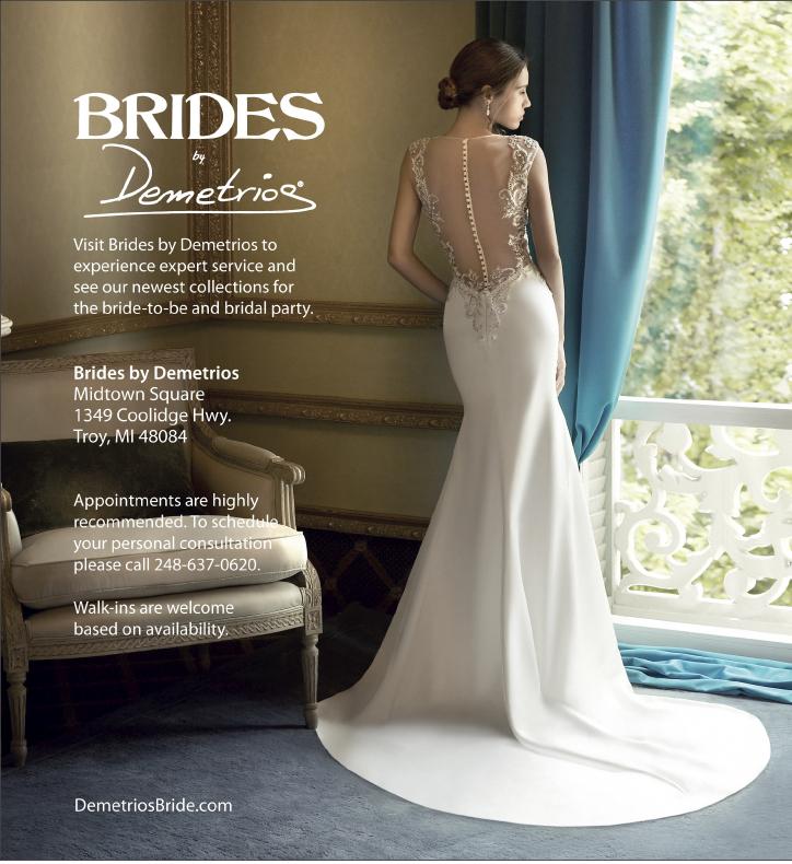 Brides by Demetrios ad in Detroit Wedding Day