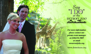 Detroit Zoo Ad in Detroit Wedding Day