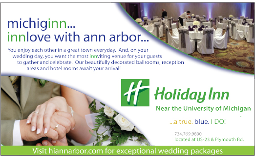 HOLIDAY INN ANN ARBOR AD THAT IS IN DETROIT WEDDING DAY