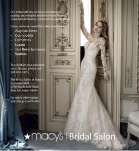 Macy's Bridal Salon ad in Detroit Wedding Day