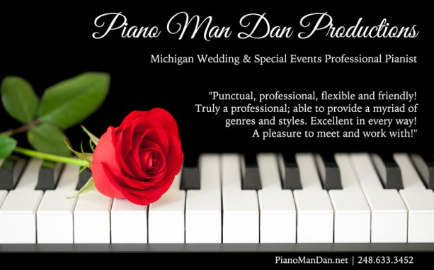 Piano Man Dan Productions ad in Detroit Wedding Day