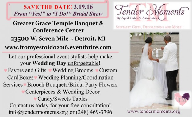 Tender Moments ad in Detroit Wedding Day