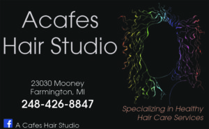 Acafes Hair Studio ad in Detroit Wedding Day