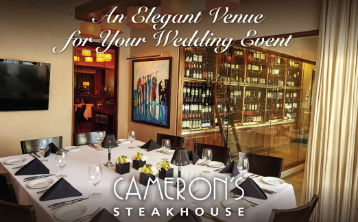 CAMERON'S STEAKHOUSE AD IN DETROIT WEDDING DAY