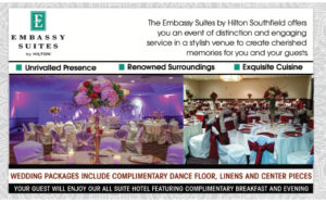 EMBASSY SUITES BY HILTON SOUTHFIELD AD IN DETROIT WEDDING DAY