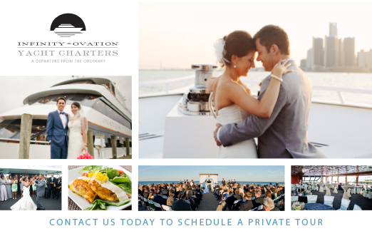 INFINITY AND OVATION YACHT CHARTERS AD IN DETROIT WEDDING DAY