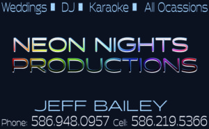 Neon Nights Productions ad in Detroit Wedding Day