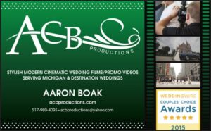 ACB Productions ad as it appears on Detroit Wedding Day