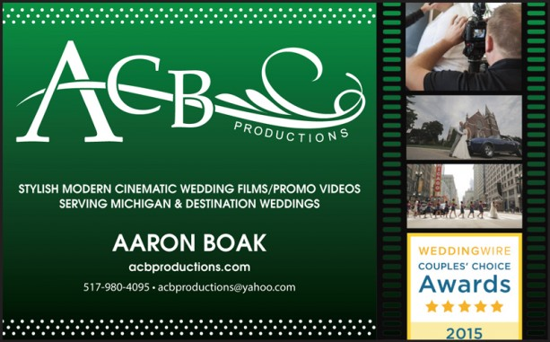 ACB Productions Ad as it appears in Detroit Wedding Day