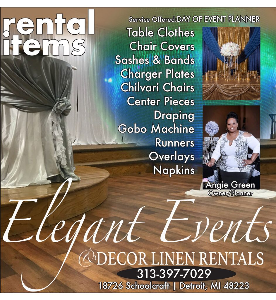 Event planning and Decor and Linen Rental