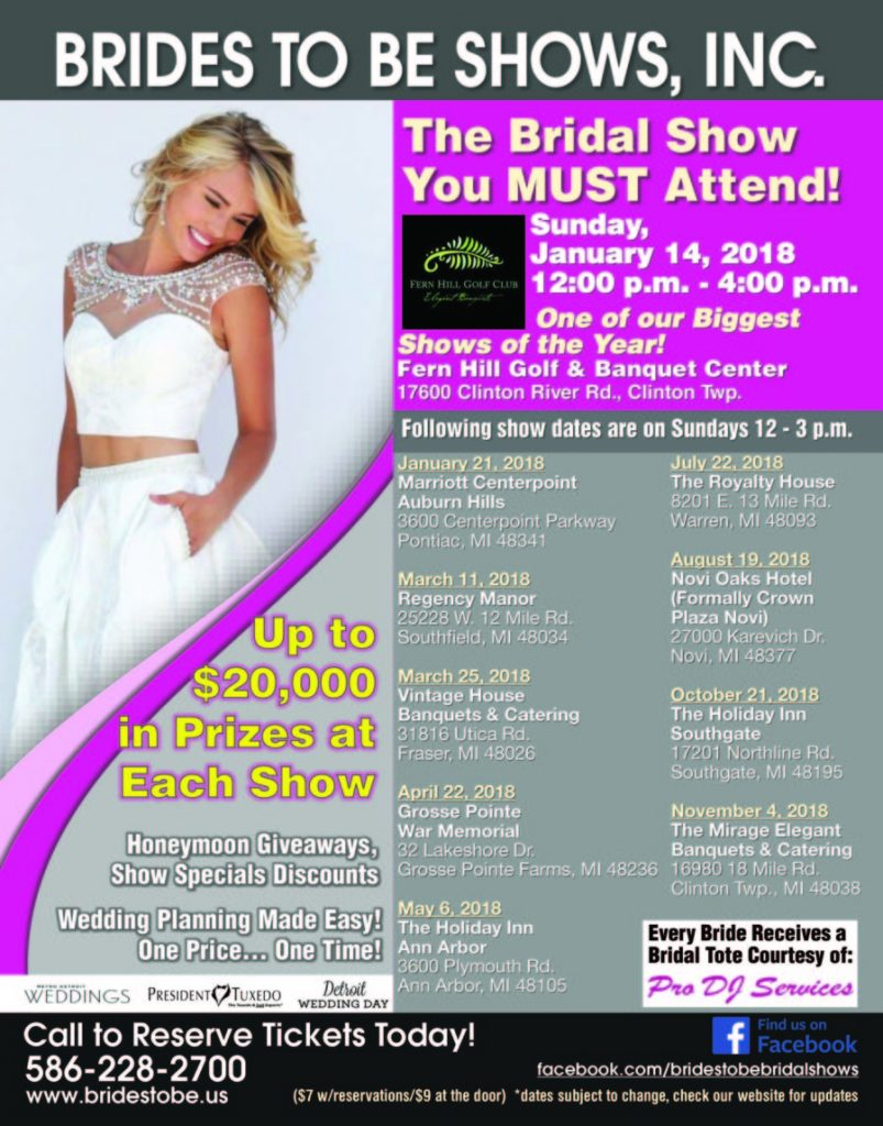 Brides To Be Shows, Inc., March 25, 2018, Vintage House Banquets ...